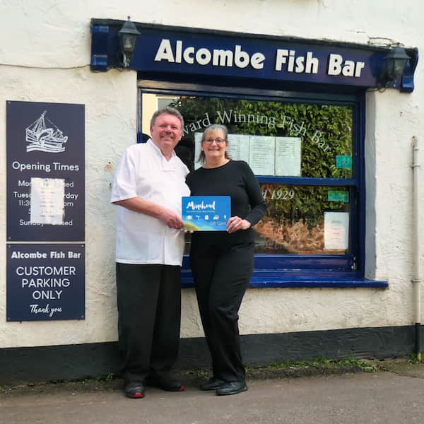 Jill Foster, from the Alcombe Fish Bar