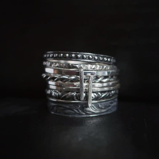 metal bracelets that look like they are from the medieval period