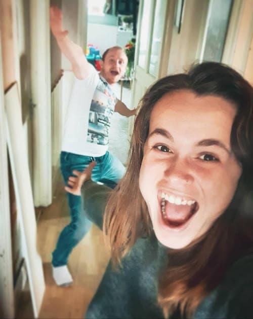DAYMADE winner, Alex, and her boyfriend looking excited