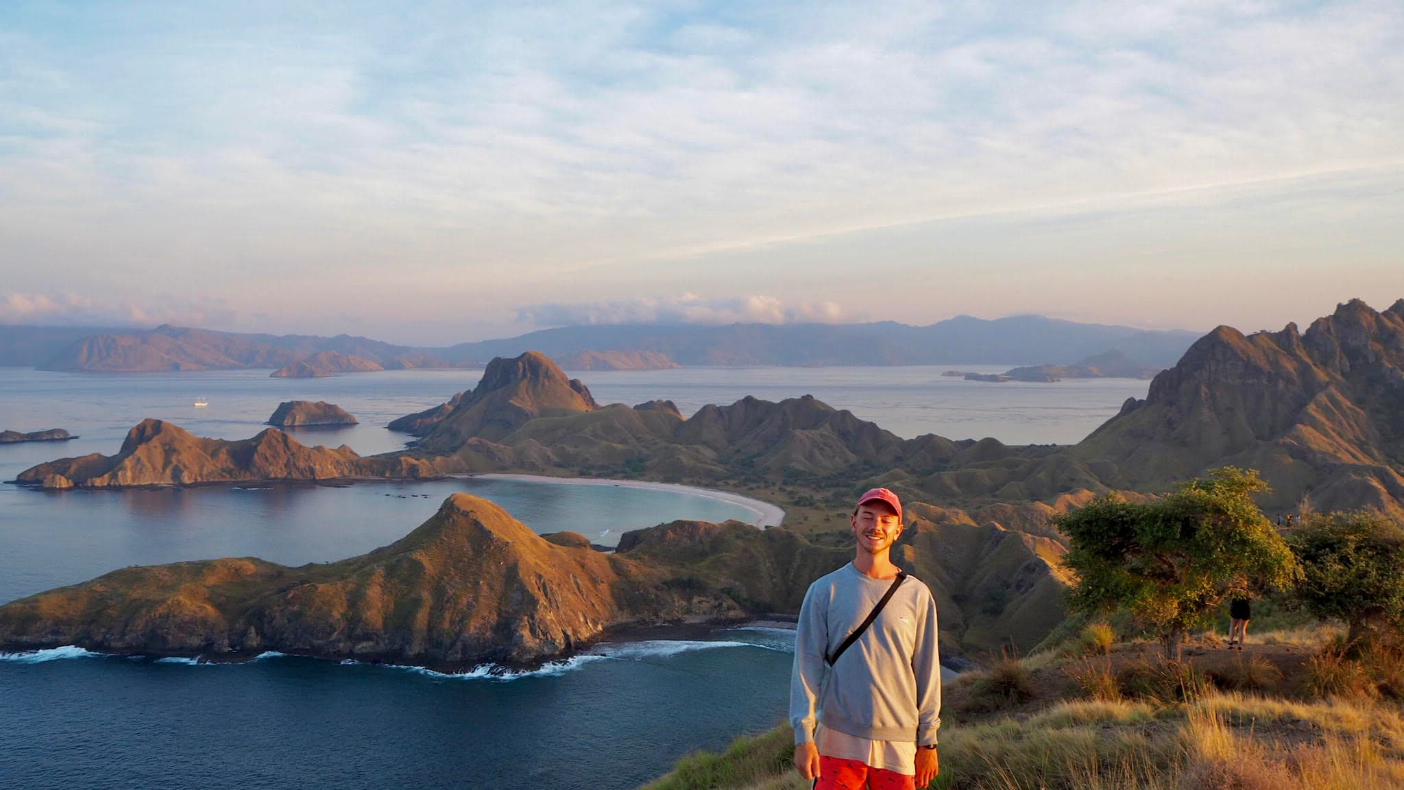 A DAYMADE winner stood in front of a collection of islands protruding from the Mediterranean Sea